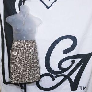Rafaella Textured Print Pencil Skirt